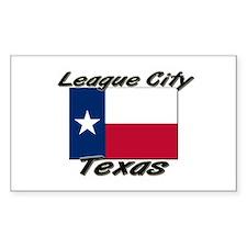 League City Texas Rectangle Decal
