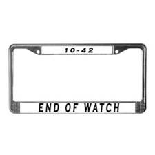 Unique Off duty License Plate Frame