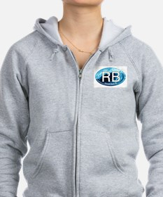 RB Rehoboth Beach Wave Oval Zip Hoodie