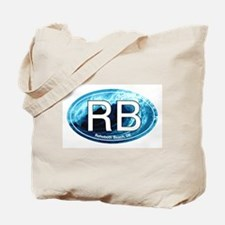 RB Rehoboth Beach Wave Oval Tote Bag