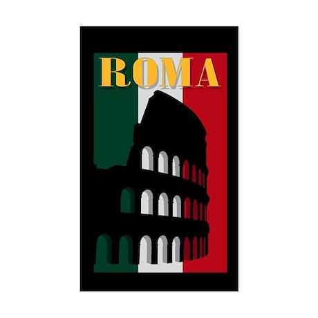 Roma Rectangle Sticker