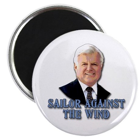 """Ted Kennedy Sailor Against the Wind 2.25"""" Magnet ("""