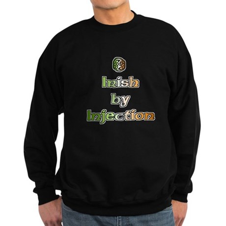 Irish by Injection Funny Sweatshirt (dark)