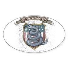 Don't Tread on Me! Gadsden fl Oval Sticker (10 pk)