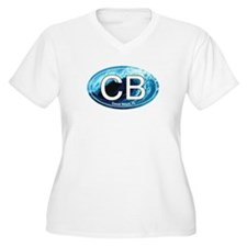 CB Cocoa Beach Wave Oval T-Shirt