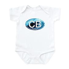 CB Cocoa Beach Wave Oval Infant Bodysuit