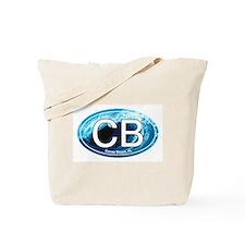 CB Cocoa Beach Wave Oval Tote Bag