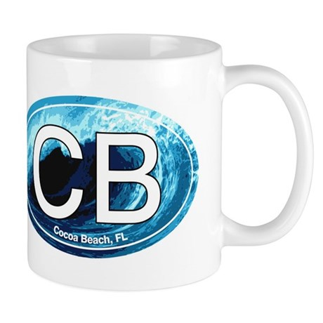 CB Cocoa Beach Wave Oval Mug