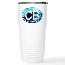 CB Cocoa Beach Wave Oval Travel Mug