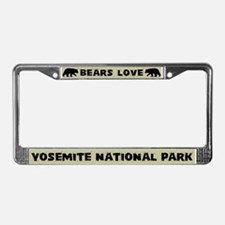 Bears Love Yosemite National Park License Frame