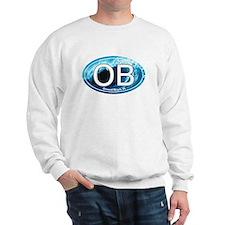 OB Ormond Beach Wave Oval Sweatshirt