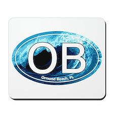 OB Ormond Beach Wave Oval Mousepad