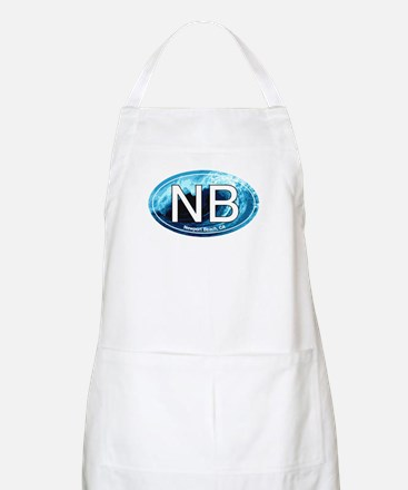 NB Newport Beach Wave Oval BBQ Apron