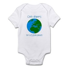 Cloth diapers for a Clean pla Infant Bodysuit