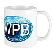 WPB West Palm Beach Wave Oval Mug