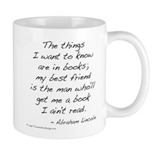 Lincoln on Books Mug
