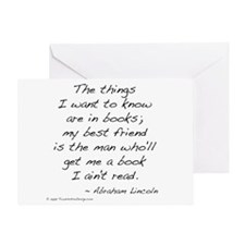 Lincoln on Books Greeting Card