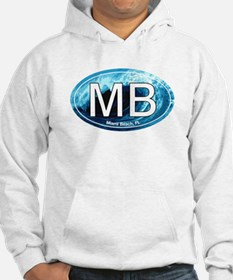 MB Miami Beach Wave Oval Hoodie