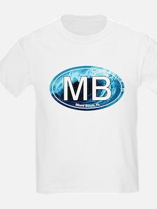 MB Miami Beach Wave Oval T-Shirt