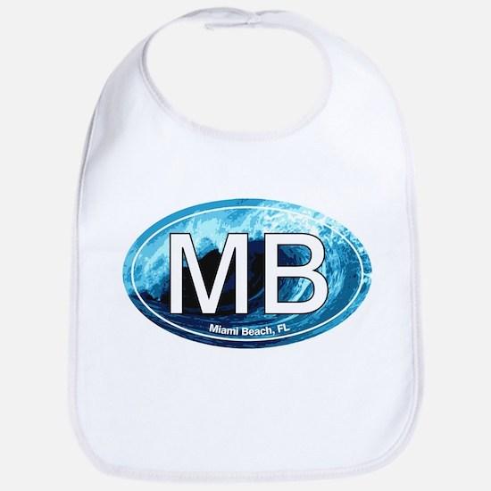 MB Miami Beach Wave Oval Bib