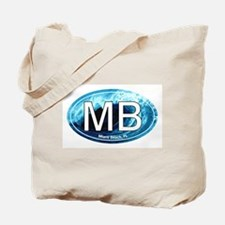 MB Miami Beach Wave Oval Tote Bag