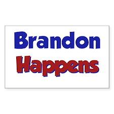 Brandon Happens Rectangle Decal