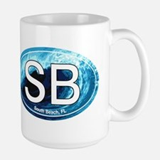 SB South Beach Wave Oval Mug