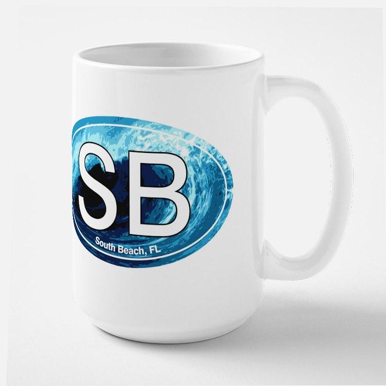SB South Beach Wave Oval Mug