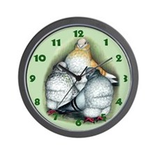 Chinese Owl Pigeons Wall Clock