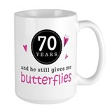 70th wedding anniversary Large Mugs (15 oz)