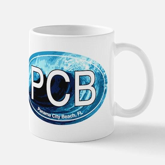 PCB Panama City Beach Oval Mug