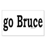 go Bruce Rectangle Sticker