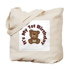 Teddy Bear 1st Birthday Tote Bag