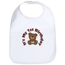 Teddy Bear 1st Birthday Bib