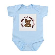 Teddy Bear 1st Birthday Infant Bodysuit
