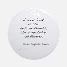 Tupper on Books II Ornament (Round)