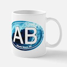 AB Atlantic Beach Wave Oval Mug