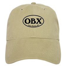 OBX Outer Banks, NC Oval Baseball Cap