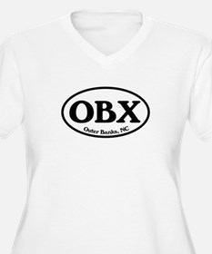 OBX Outer Banks, NC Oval T-Shirt