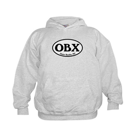 OBX Outer Banks, NC Oval Kids Hoodie