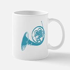 Blue French Horn Mug