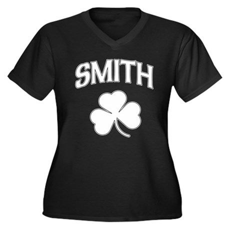 Irish Smith Women's Plus Size V-Neck Dark T-Shirt