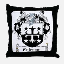 Coleman Coat of Arms Throw Pillow