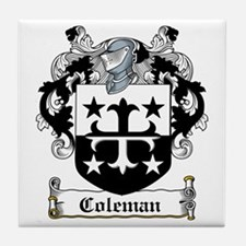 Coleman Coat of Arms Tile Coaster