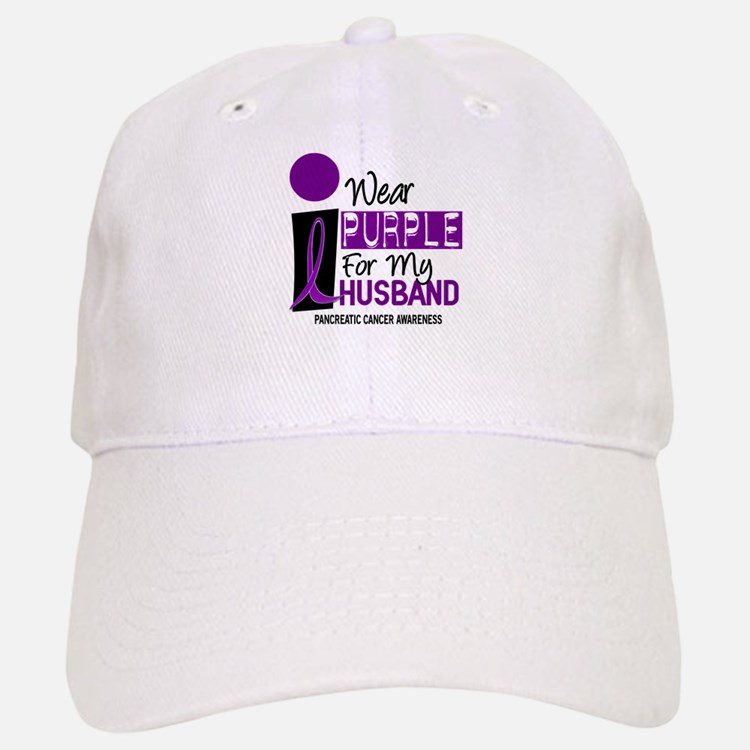I Wear Purple For My Husband 9 PC Baseball Baseball Cap