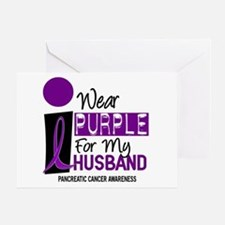 I Wear Purple For My Husband 9 PC Greeting Card
