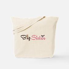 big sister t-shirts pink and brown Tote Bag