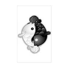 Yin Yang Koi Rectangle Decal