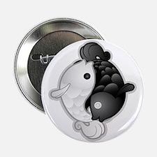 "Yin Yang Koi 2.25"" Button"