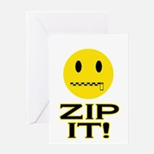 Zip It! Greeting Card